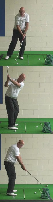 Correct Golf Answer Use the right hand to push downwards through the ball