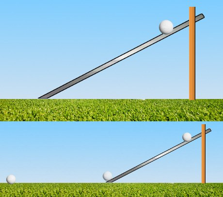 Correct Golf Answer With a device and scale called the Stimpmeter