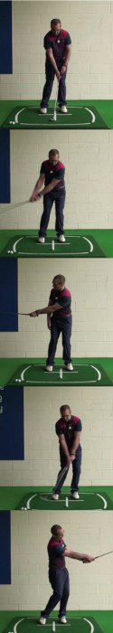 Correct Golf Answer With controlled swing lengths
