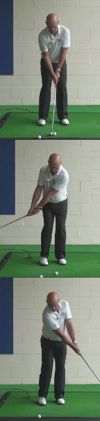Correct Golf Answer Yes, the hands stay ahead and direct the club head downward through the ball