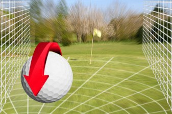 Check Up (as in Making the Ball Check Up), Golf Term