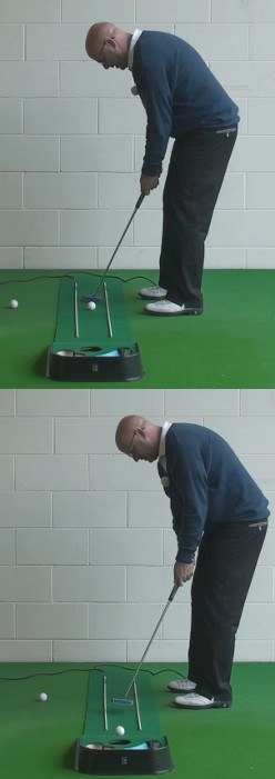 How To Create A Smooth Head Over Heel Rolling Putt, Senior Golf Tip