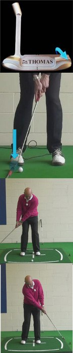If You Find The Ball Against The Collar: Try To Putt With The Putter Toe, Golf Senior Tip