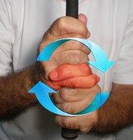 Rickie Fowler interlocking grip