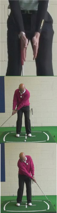 Why You Need Both Hands Working Together With A Flat Palm Grip For Best Putting Results: Senior Golf Tip