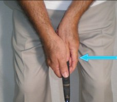 Tiger Woods reverse overlap grip