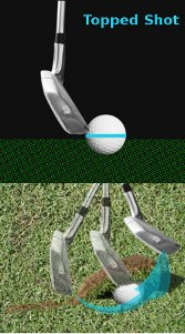 Worm-burner, Golf Term