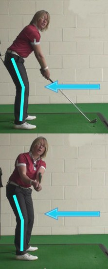 How Much Knee Flex Should I Have During My Set Up To The Golf Ball?
