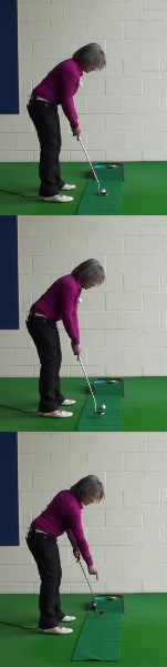 A No-Peek Putting Stroke, Women's Golf Putting Tip