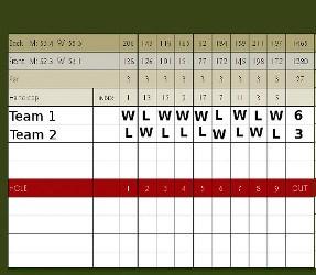Alternate Shot Match (aka Foursomes), Golf Term