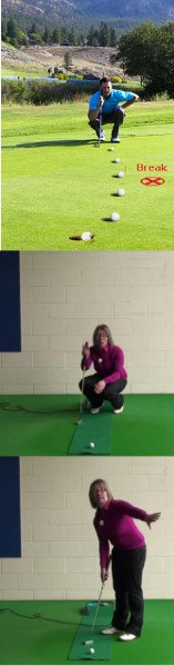 Best Way To Handle Big Breaking Putts, Women's Golf Putting Tip