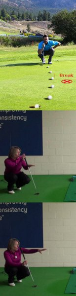 Best Way to Handle Putts with Two Breaks, Women's Golf Putting Tip