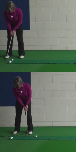 Cause And Cure Bad Putting Stroke: Left Wrist Not Keep Firm, Women's Golf Tip