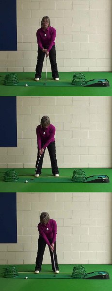 How Best To Keep The Putter Head Low To Roll Pure Putts, Women's Golf Tip
