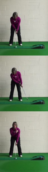 How to Set Up for a Cross-Handed Putting Grip Style, Women's Golf Putter Tip