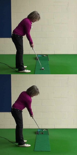 Open Putting Stance To Help On Long Putts Women S Golf Tip