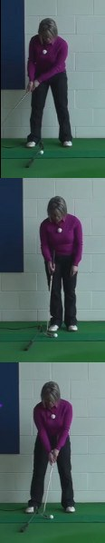 When The Golf Ball Is On The Collar Edge: Use The Toe Of The Putter For Best Results, Women's Golf Putting Tip
