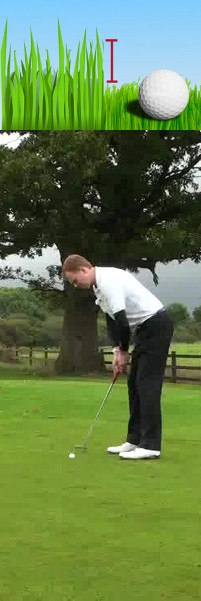 How Can I Hit My Golf Ball With My Putter When The Ball Is Against The Collar Of The Fringe