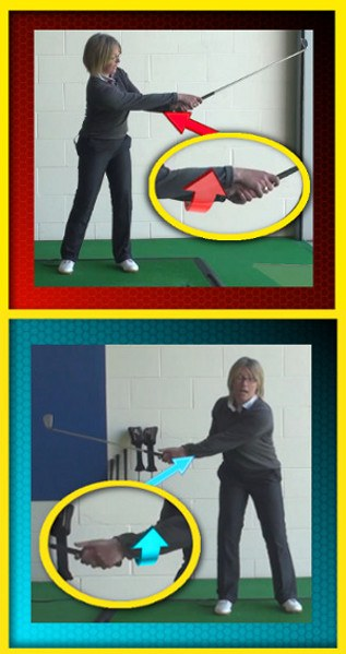 Touch Forearms for Proper Release Through Impact