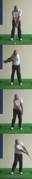 Senior Open Your Stance to Let Hips Clear Through Impact