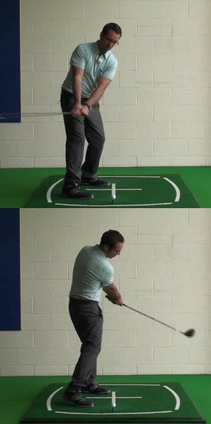 Align Slightly Right for Better Backswing Turn