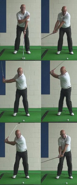 Align Left Arm with Shaft for a Wide Takeaway