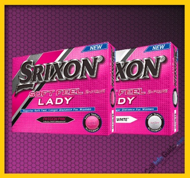 Srixon SOFT FEEL LADY SOFT WHITE and Passion Pink Golf Ball Review
