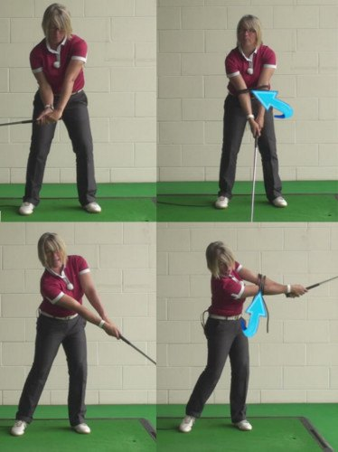 Touch Forearms for Flawless Swing Release