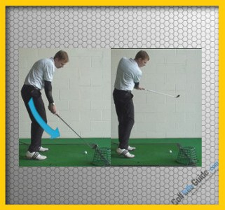 Slice Golf Shot Drill 2 Basket outside the line, Video