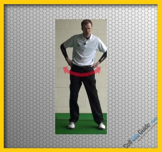Golf Stretch Hip rotations Video