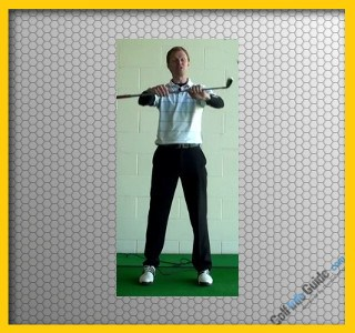 Golf Stretch Wind the club up wrist strengthen Video