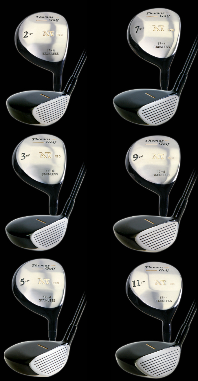 Thomas Golf AT190 Black Fairway Woods Mens Right Handed