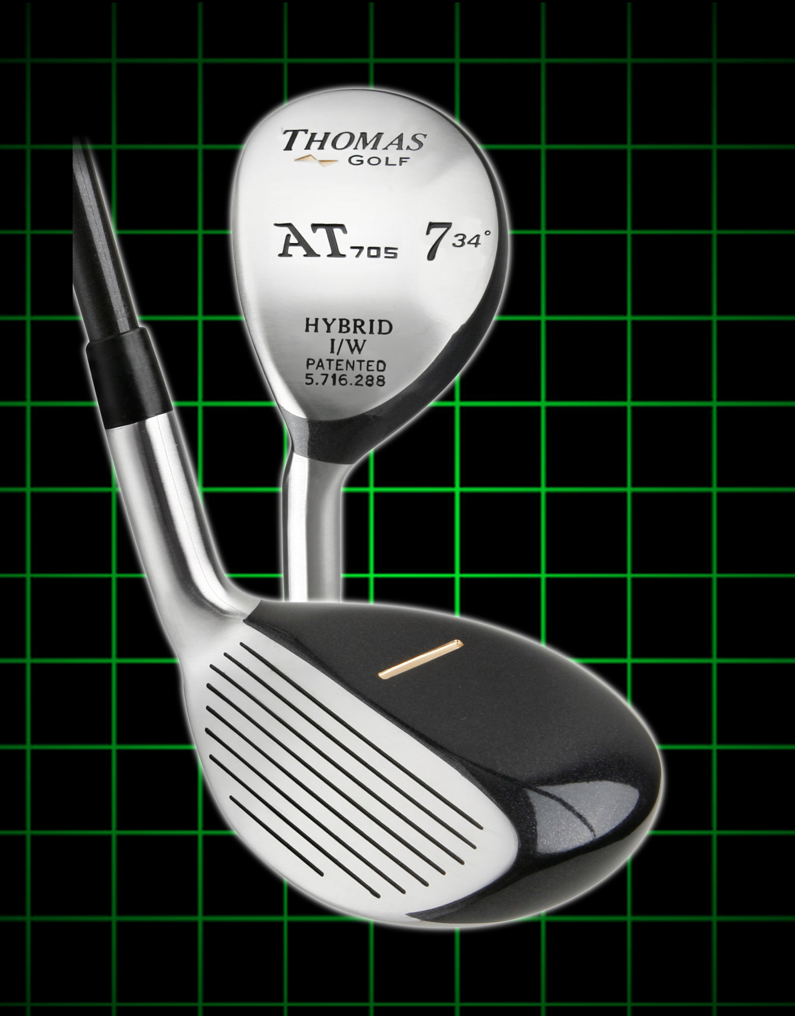 Thomas Golf AT705 Hybrids Mens Left Handed