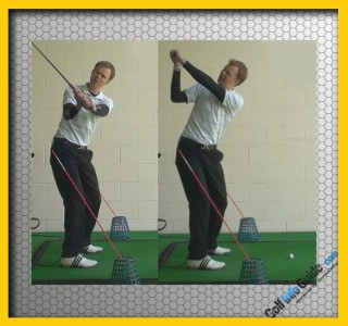 Best Way To Swing On Plane Golf Tour Alignment Stick Drill