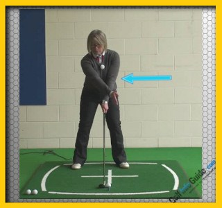What Position Should My Left Arm Be As I Address The Golf Ball?