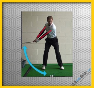 Keep the Shaft and Left Arm In Line for a Wide Takeaway, Golf Swing Tip