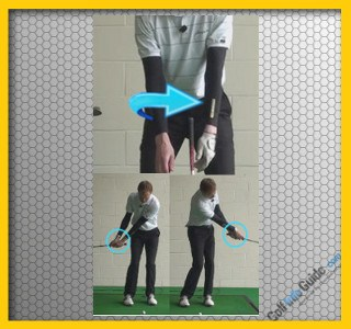 Touch Forearms for Proper Release Through Impact: Golf Tip