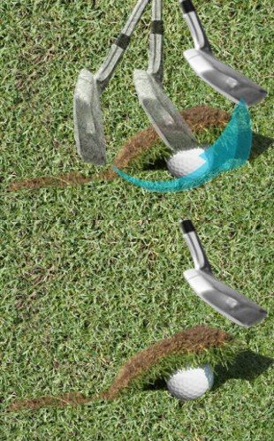 How Not To Strike Turf Before the Golf Ball