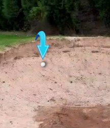 How to Play Ball Against Back Lip of Bunker