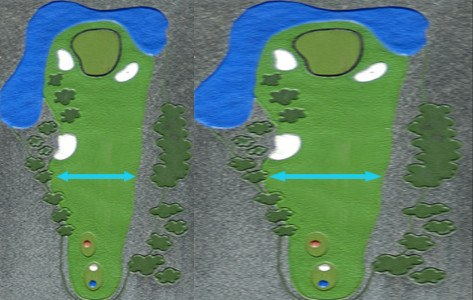 Don't Get Lulled by Extra-Wide Fairways