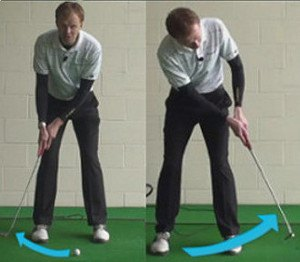 How Should My Backswing Move Away from the Golf Ball for More Accurate Putts?
