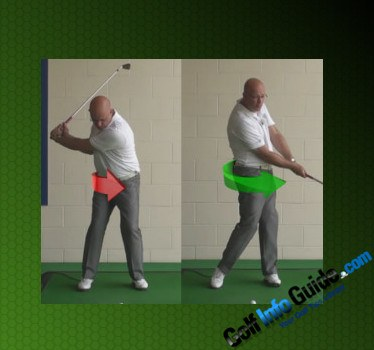 Keep Your Arms in Front of You to Improve Your Golf Hip Turn in the Downswing