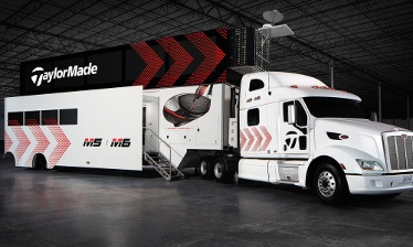 TaylorMade Shows-Off their Brand Spanking New 2-Level PGA Tour Van VIDEO